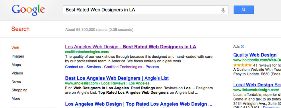 Search Engine Marketing - LA's Best Rated Web Designers