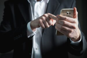 business person using a mobile phone