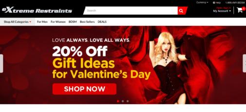 Adult sex toy web site