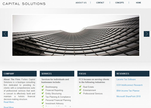 Forbes capital solutions los angeles web designers forbes capital solutions malvernweather Images
