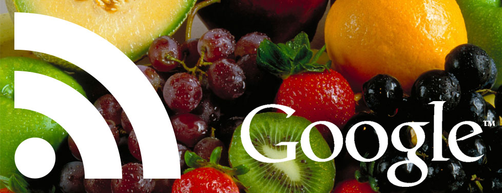 Picture of Google logo over fresh fruit, symbolizing the Freshness SEO update