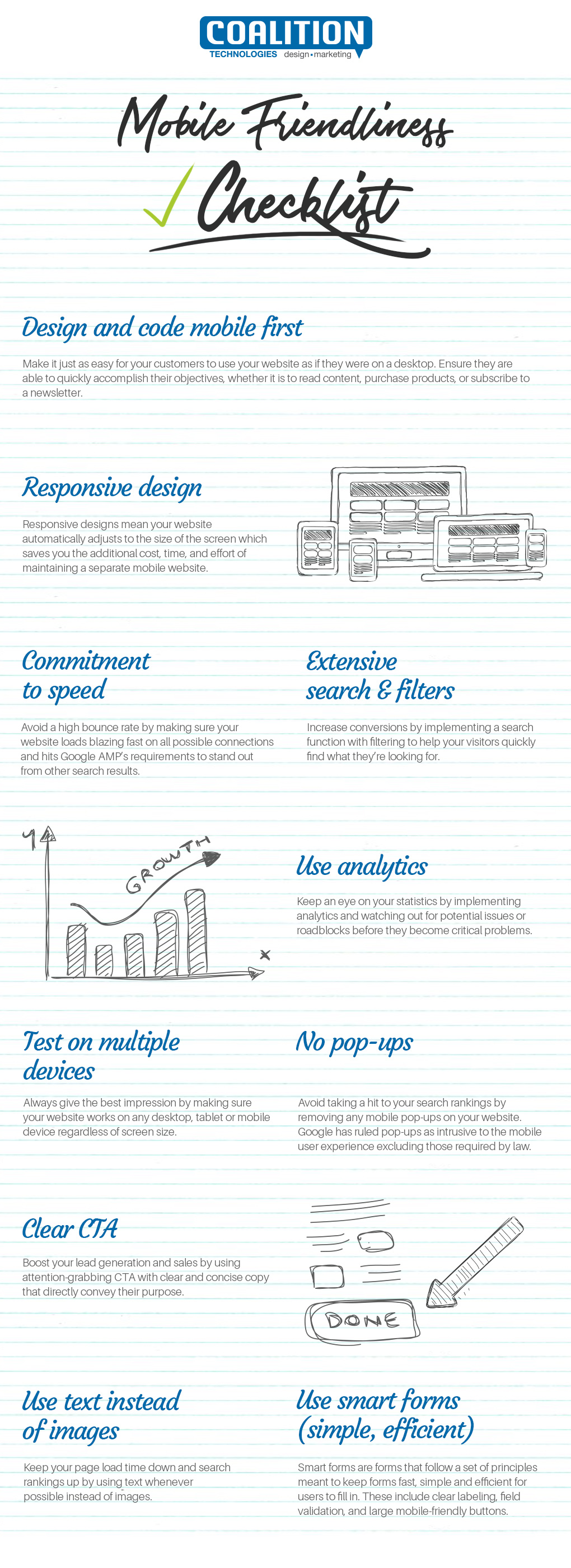 Mobile Friendliness Checklist Infographic