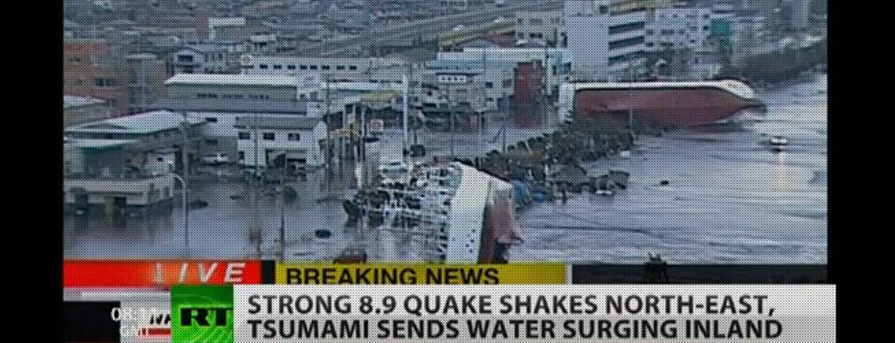 tsunami hits Japan